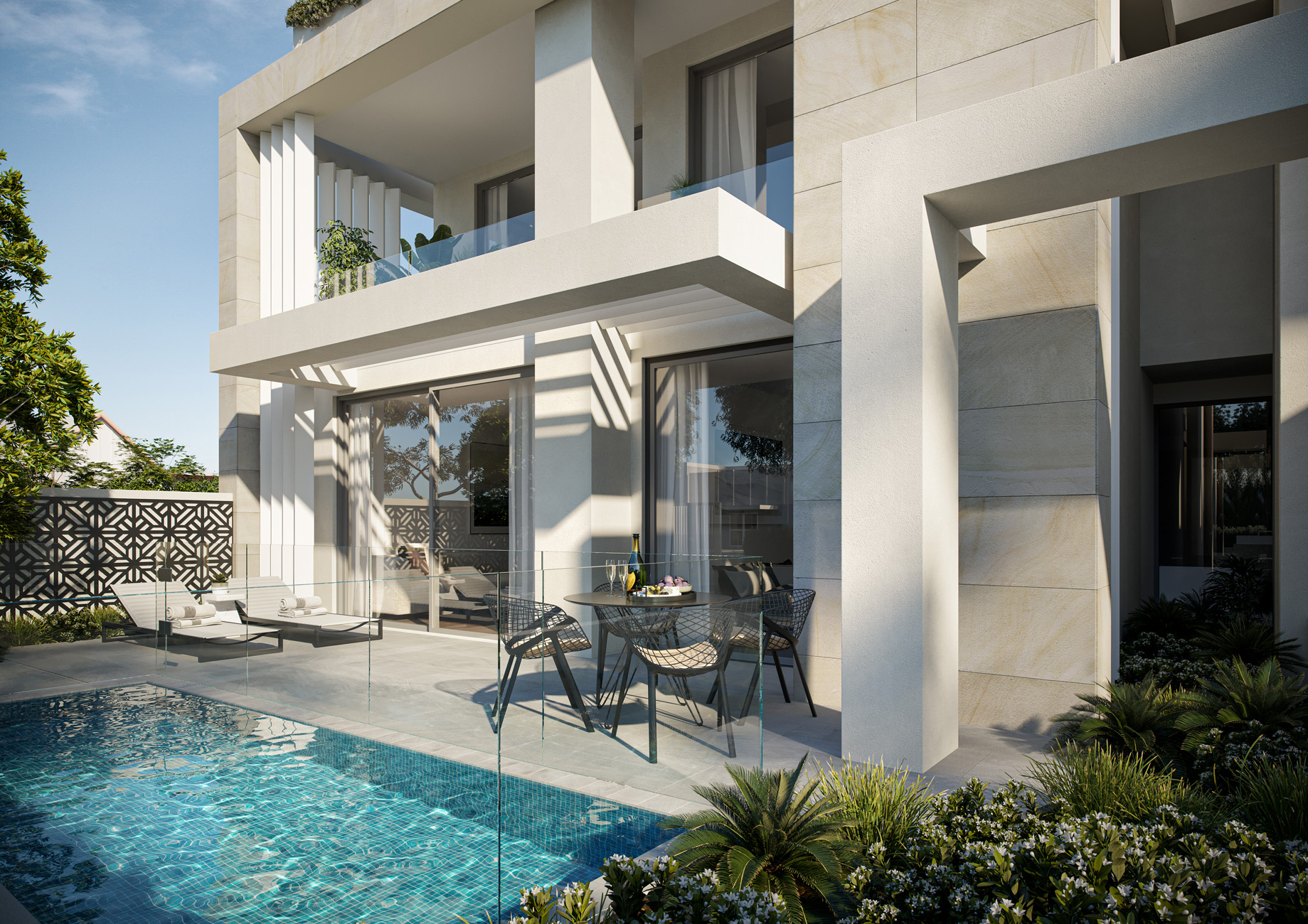 Trentham-House-courtyard-sandringham-Melbourne-3d-image-visualisation