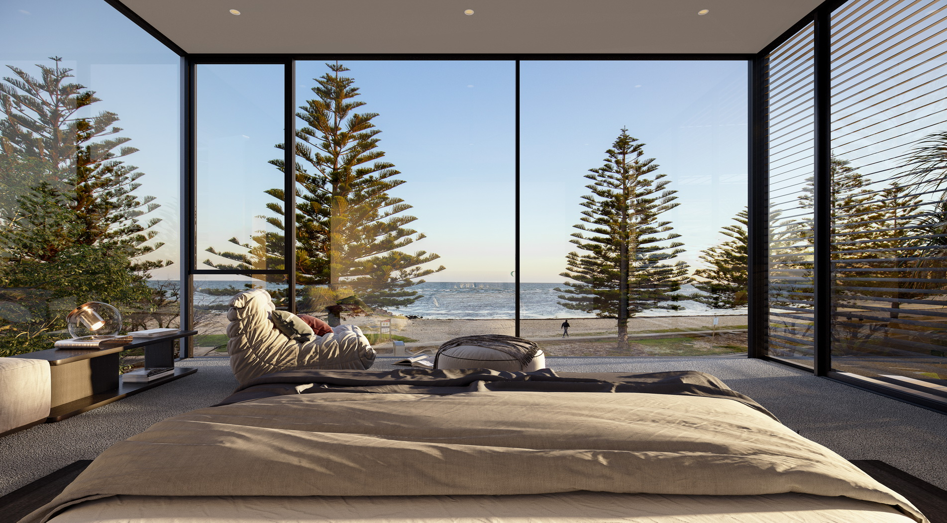 Mancini-Esplanade-3D-image-visualisation-living-bedroom-view-photography