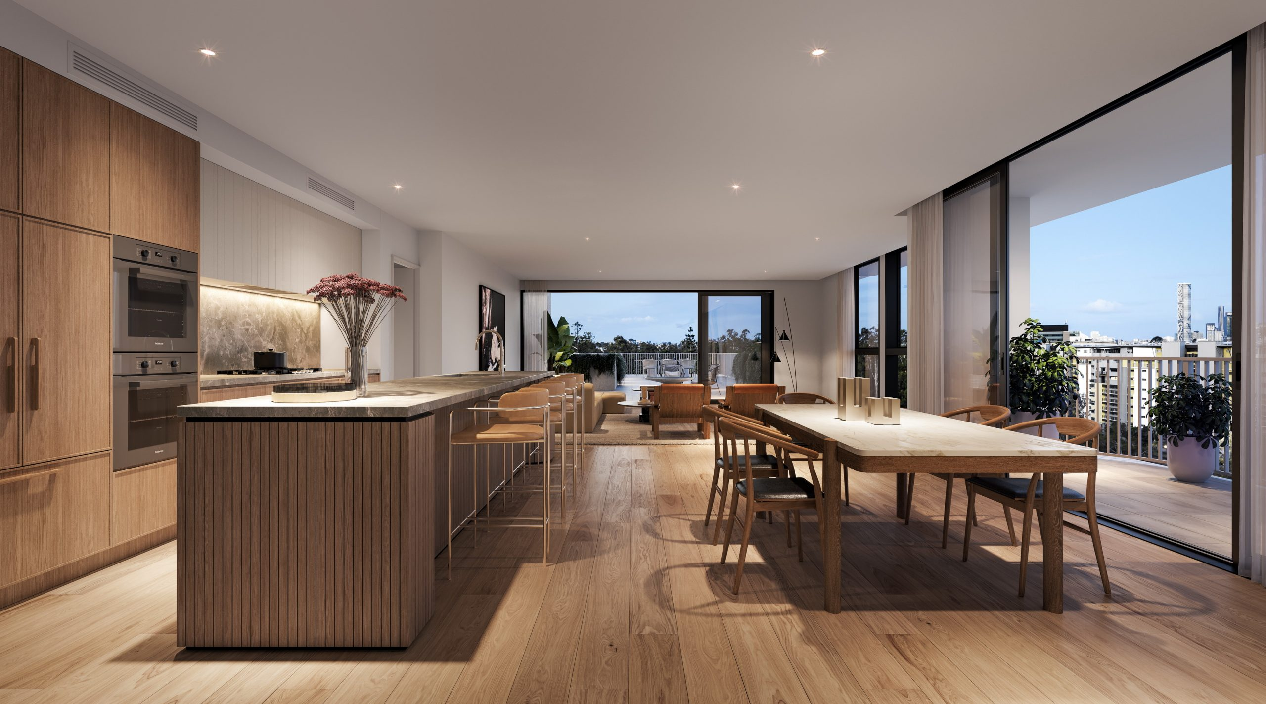 Fkd-studio-kensington-toowong-mermaid-beach-mosaic-property-render-3d-interior-kitchen-living-penthouse