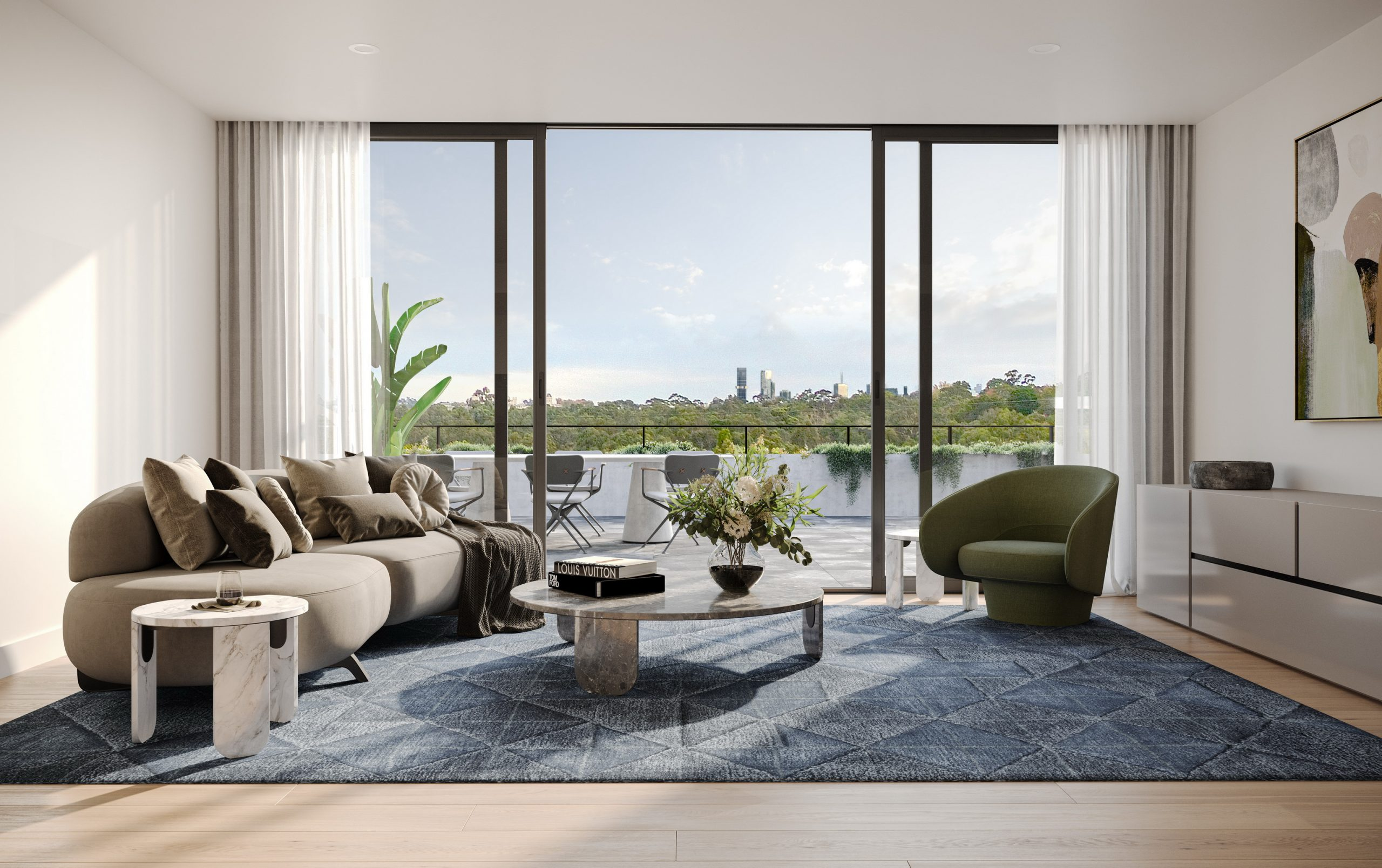 fkd-studio-render-architecture-image-the-grounds-interior-ivanhoe-residential-view-balcony