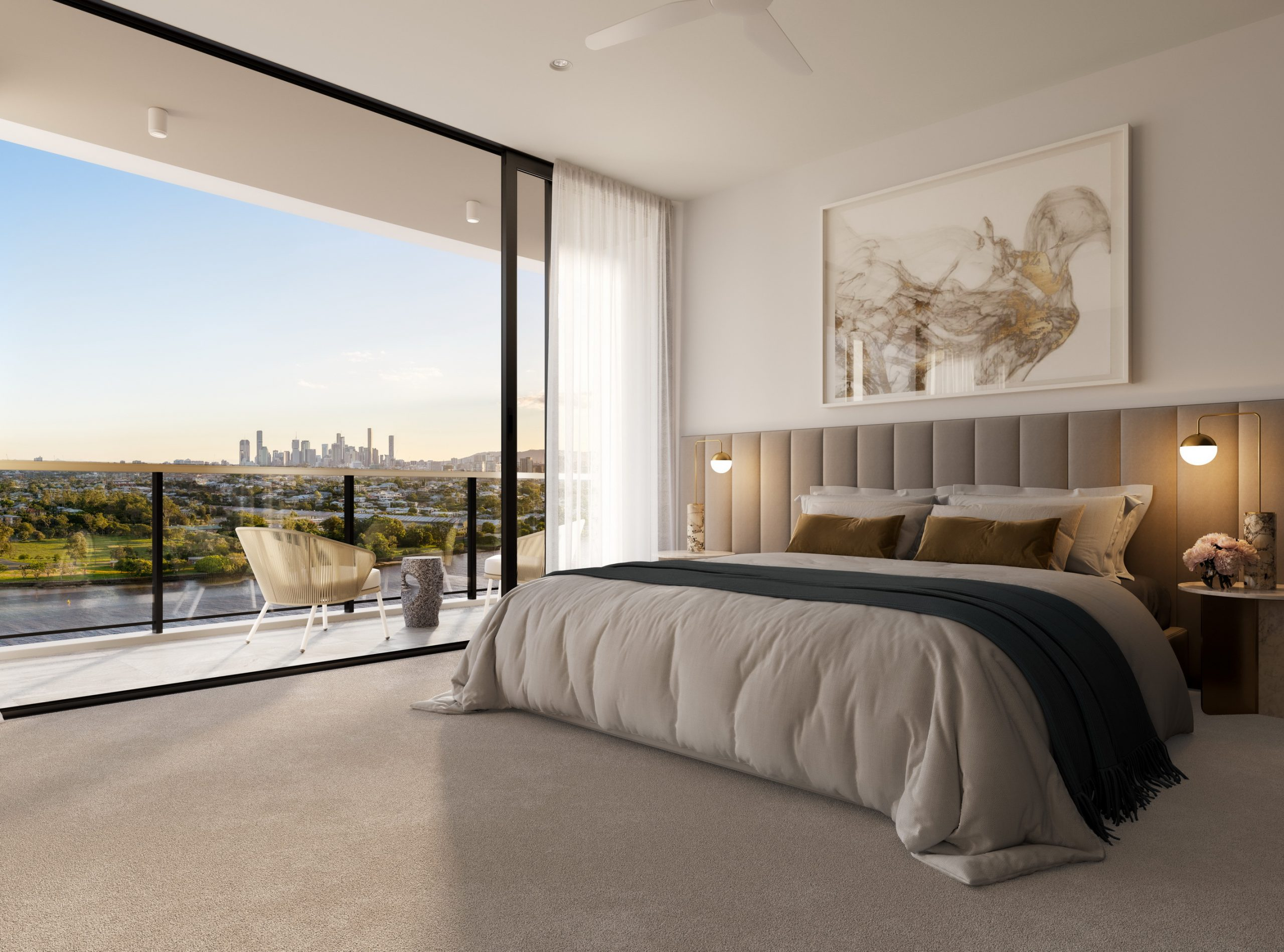 Rivello-queensland-render-3d-fkd-studio-architecture-luxury-interior-design-bedroom-penthouse