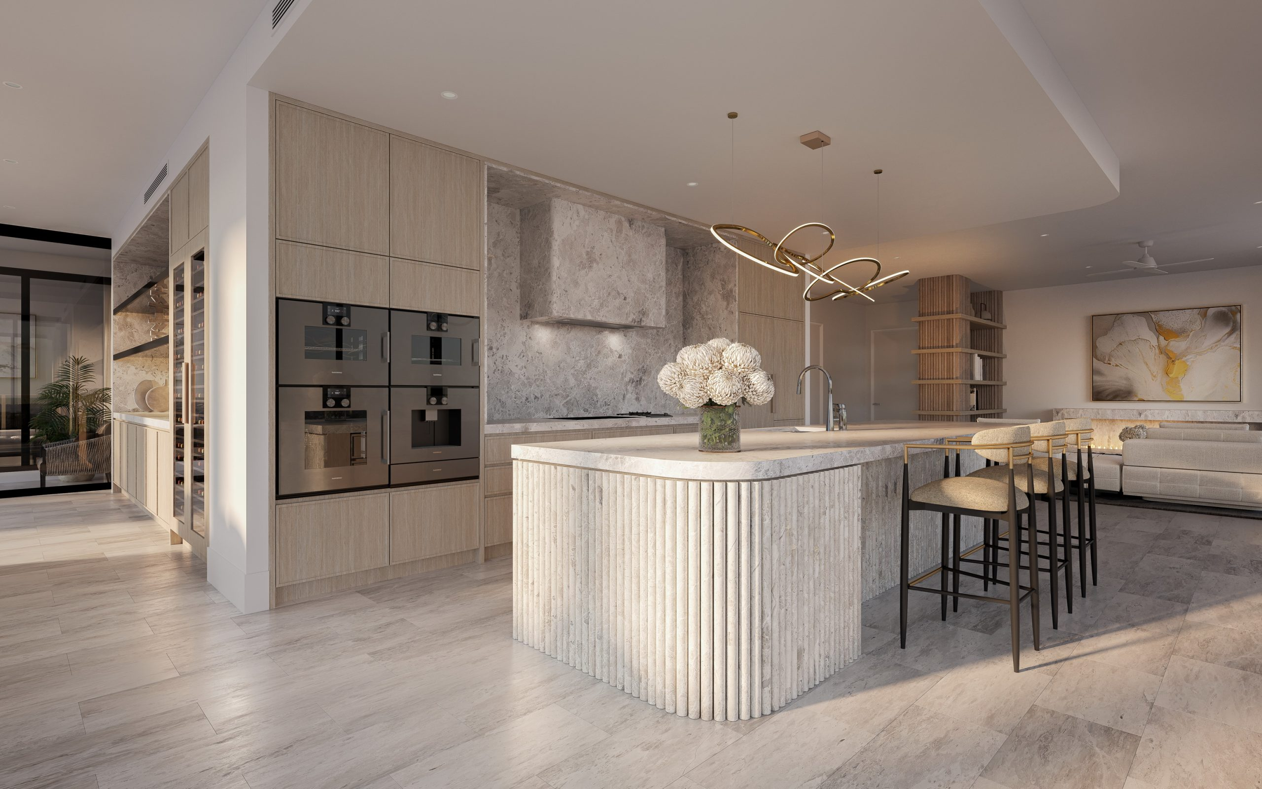Rivello-queensland-render-3d-fkd-studio-architecture-luxury-interior-design-kitchen-penthouse