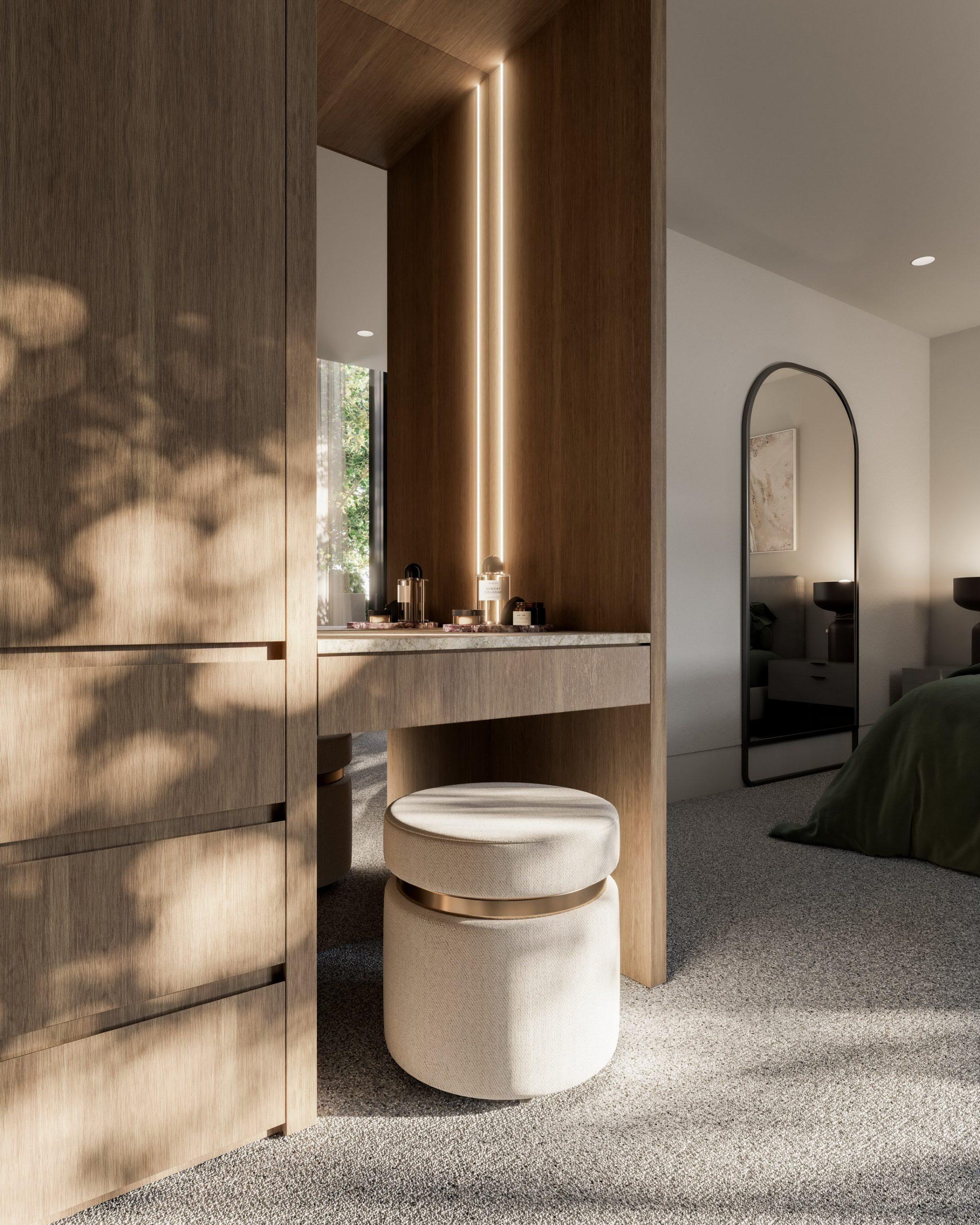 fkd-studio-3d-archiecture-visualisation-cgi-archviz-eaglemont-interior-fireplace-wardrobe-vignette-detail